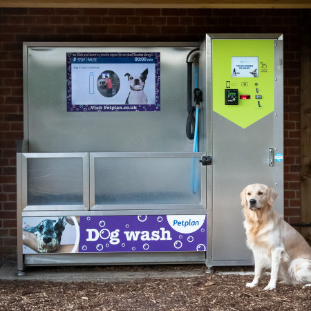 NO MORE MUCKY PUPS WITH POLYGON PETS DOG WASH MACHINES! image